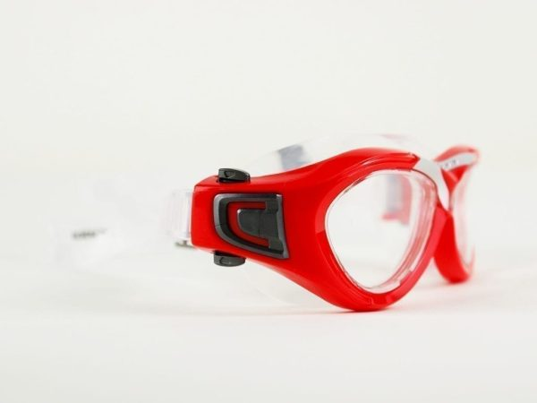 Swimming Glasses - From Mondial - Red & Black