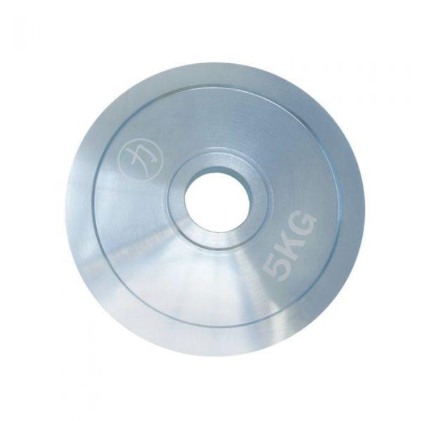 Silver Nickel Steel Weight Plate 5 KG - One Piece