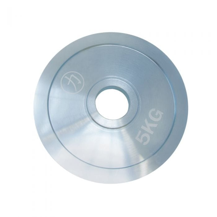 Silver Nickel Steel Weight Plate 5 KG - One Piece