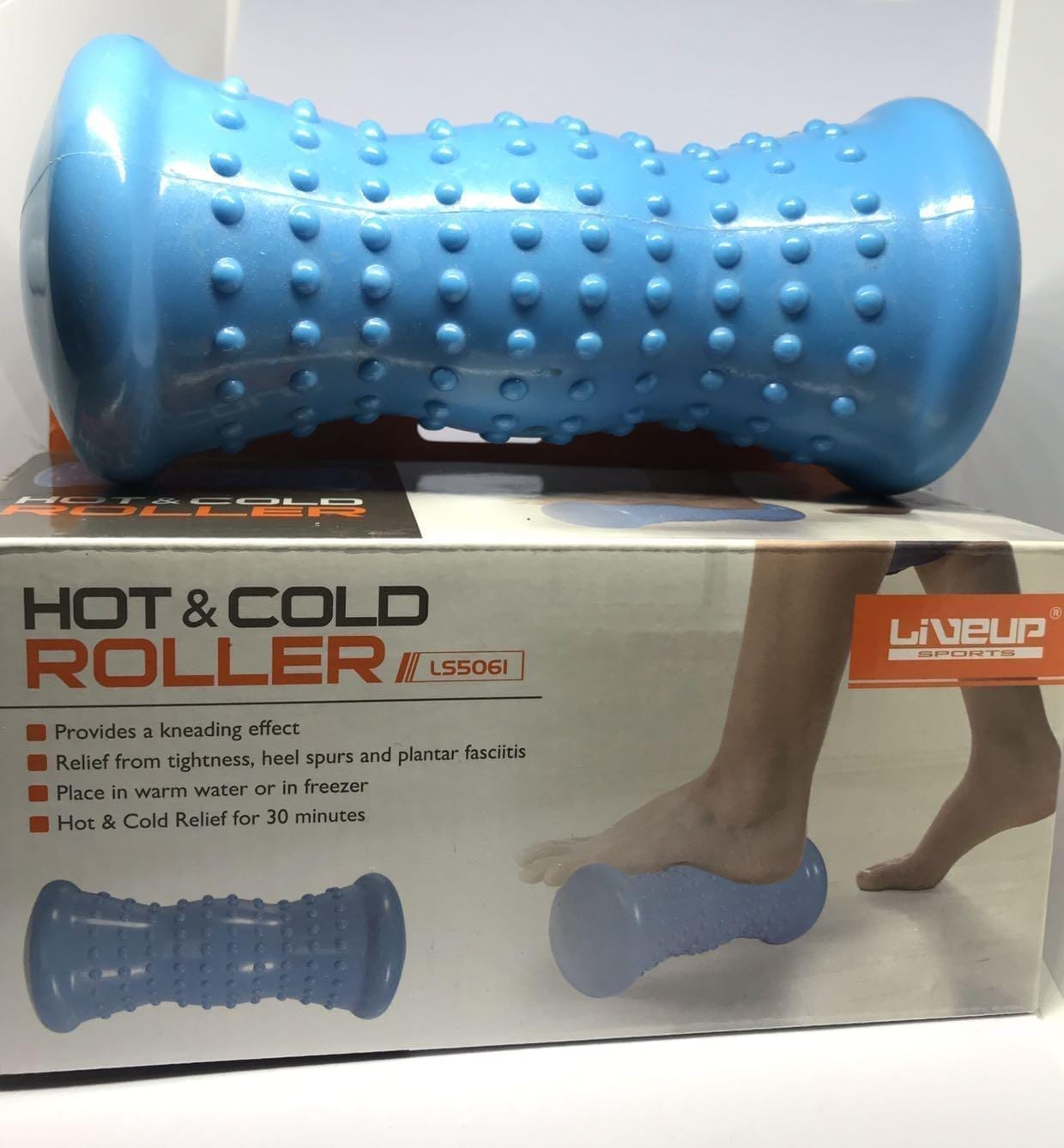 Hot and Cold Roller - Liveup - Roller Foot Massager  - Blue