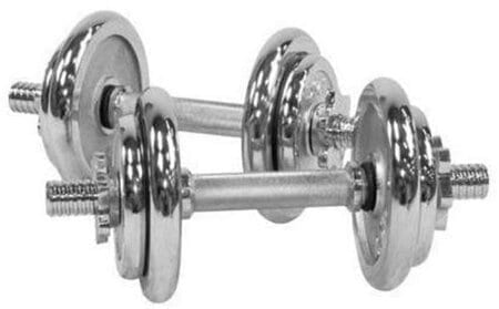 Weight Dumbbells 10 KG Set Chrome – 2 Pieces