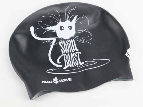 Swim Cap Speed Demon from Made Wave - Black Printed