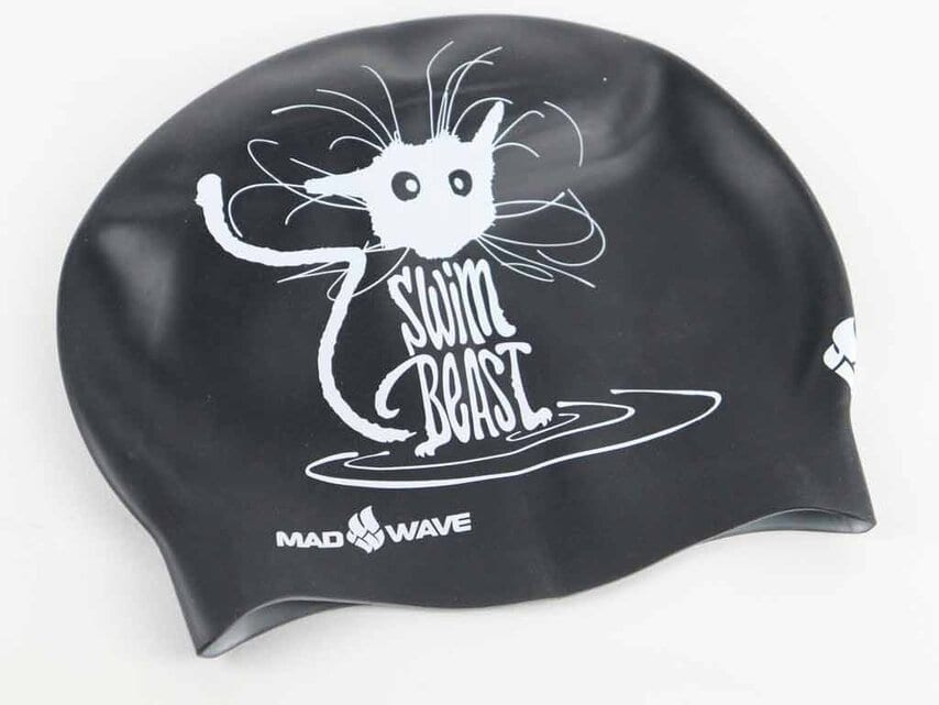 Swim Cap Speed Demon from Made Wave - Black Printed