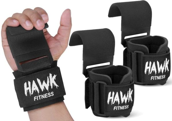 Weight Lifting Hooks With Wrist Wraps