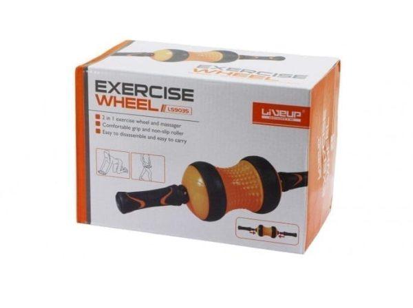Wheel Roller -Abdominal Exercises - Liveup - Black And Orange