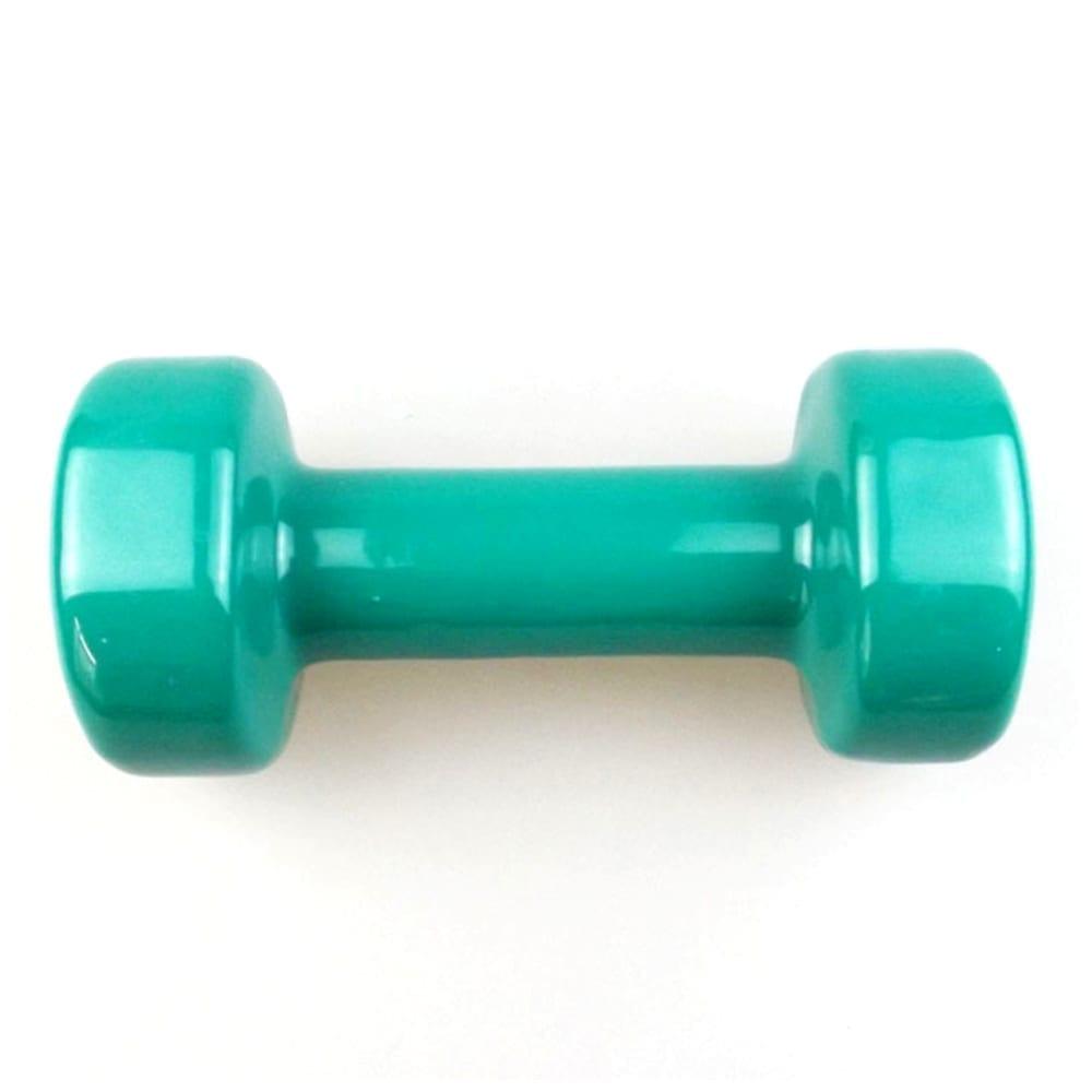 Dumbbell For Fitness - Vinyl Dumbbell - 3 kg - Green