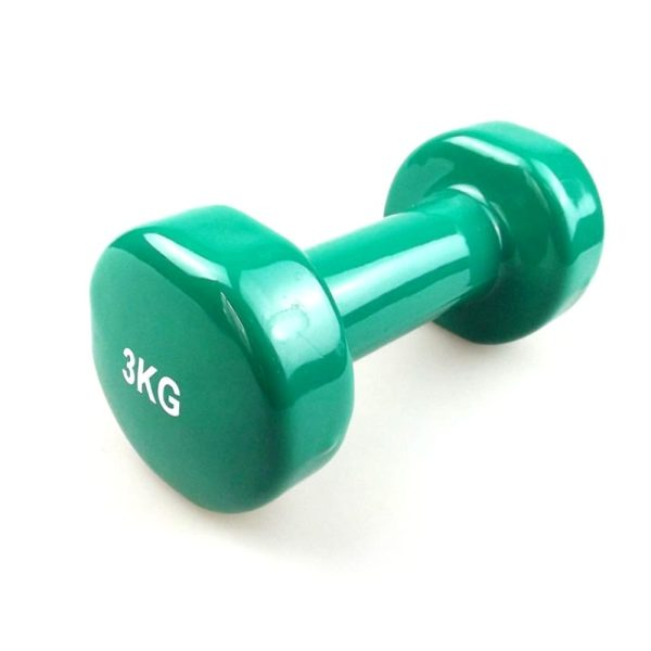 دمبل فينيل - دمبل اثقال للتمارين الرياضية - 3كجم - اخضر