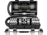Chrome Adjustable Dumbbell Set 30 kg - Dumbbell Chrome Set Adjustable Weights 30 kg
