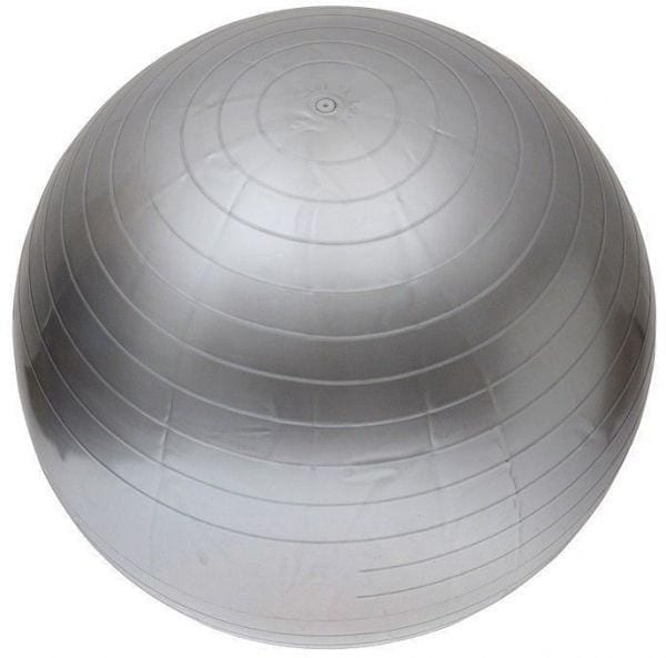 Yoga ball - Exercise ball - Balance Ball for Fitness Exercises - Size 65 cm - silver