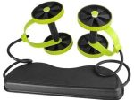 AB Wheels Roller Stretch Pull Rope Resistance Band - Roll Ab Trainer - Power Roll AB - Revolex - Green