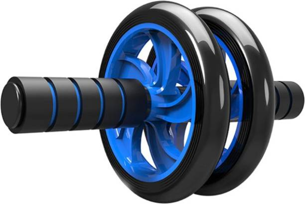 Double Ab Wheel Roller Exercise - Double Ab Roller - Black/Blue