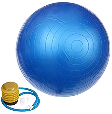 Big Exercise Ball - Yoga Ball 85 cm - Gym Ball Blue