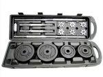 Adjustable Dumbbells 50 kg - Box Chrome Dumbbell Set - Plastic Carrying Box 50 kg