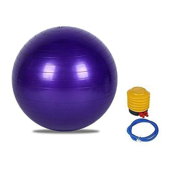 Yoga Ball Exercise - Stability Ball - 75 cm - Purple