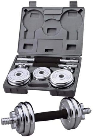 Set Chrome Dumbbells - Chrome Plated -Lifting Weights - 15 kg