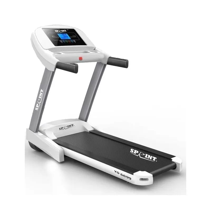 Sprint sports Electric Tredmill DC - Maximum User Weight 120 kg -White - YG6699