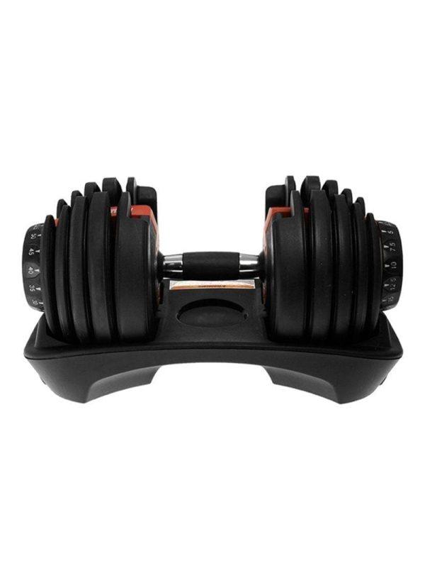 Adjustable Dumbbell From Boflex - Adjustable Dumbbell for Fitness Exercise - 24 Kg - Black