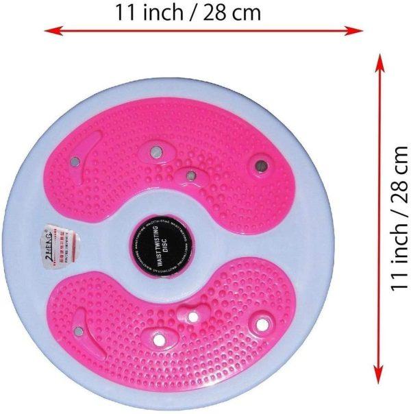قرص تويست مغناطيسي للياقة البدنية - قرص دوار لنحت الخصر والبطن - 28 سم - اقصى وزن للمستخدم 150كجم