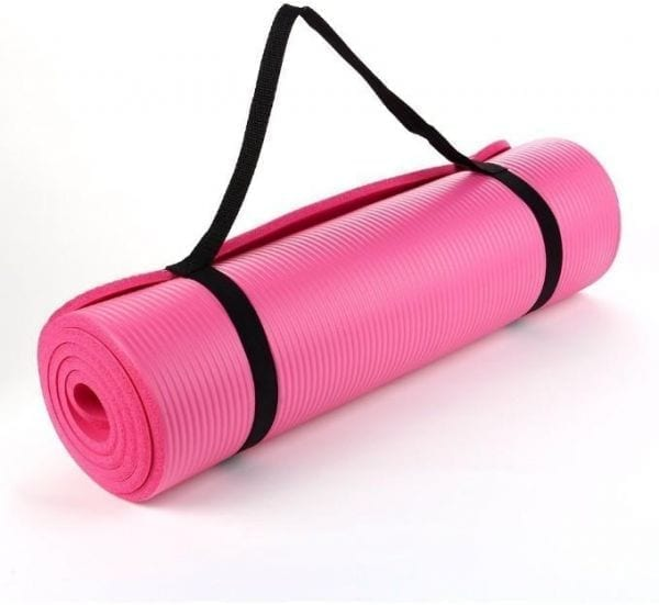 yoga Mat - Exercise Rug 10 mm - Exercise mat - Pink