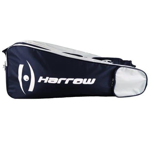 Harrow 3 Racquet Bag - Squash Bag - Navy & White