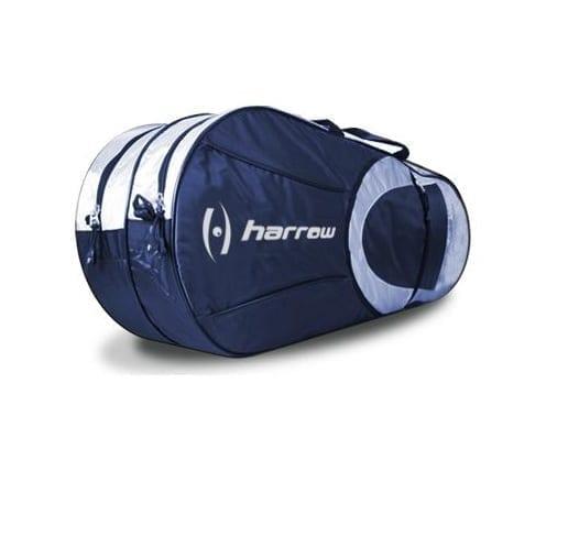 Harrow Racquet Bag - 6 Racquet Bag - Navy & White