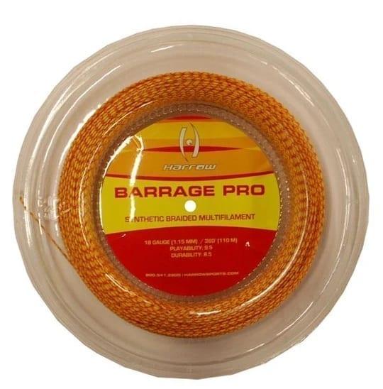 Barrage Pro Squash String, 18 Gauge, 360' Reel - Harrow - Yellow & Red