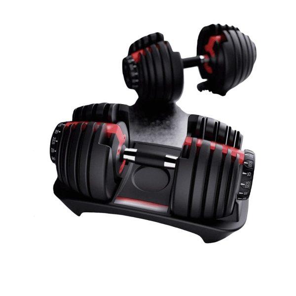 دمبل حديد قابل للتعديل من بوفليكس - دمبل التمارين الرياضية قابل للتعديل - 24كجم - اسود