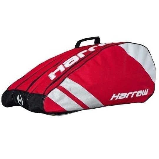 Harrow Ace Pro Racquet Squash Bag - 3 Racquet Bag - Crimson & Silver