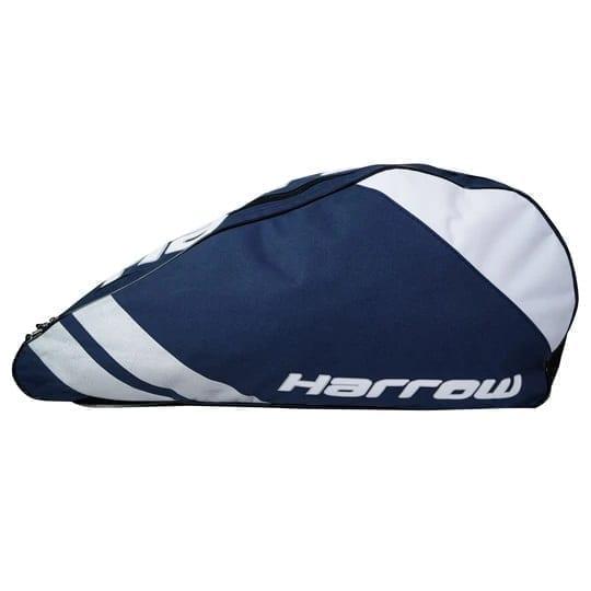 Harrow Ace Pro Racquet Squash Bag - 3 Racquet Bag - Navy & Silver