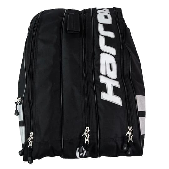 Harrow Ace Pro Racquet Squash Bag - 3 Racquet Bag - Black & Silver