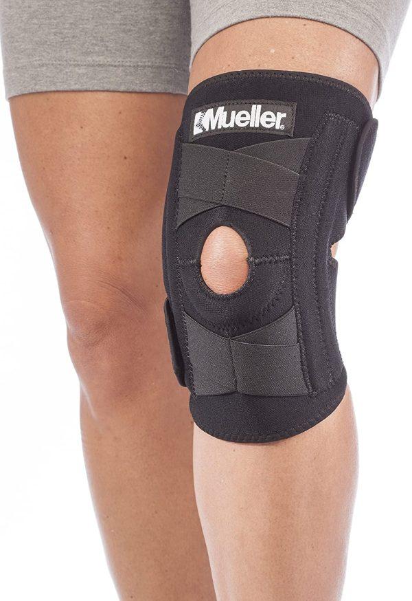مثبت للركبة قابل للتعديل من مولر - دعامة ركبة قابلة للتعديل - اسود - مقاس واحد