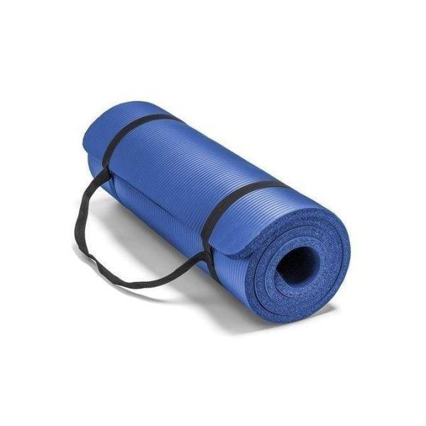 مرتبة تمارين رياضية - مرتبة تمارين الجيم - سجادة اليوجا - 10مم - ازرق