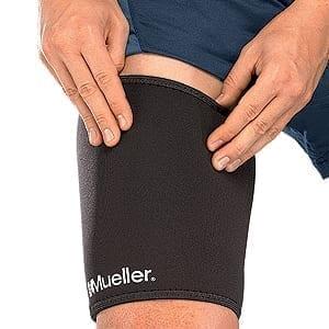 Mueller Elastic Thigh Support - Thigh Sleeve - Black