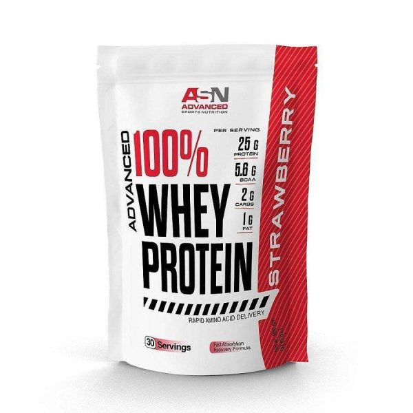 Whey Protein ASN Advanced 30 Servings - Whey Protein 990g - Strawberry