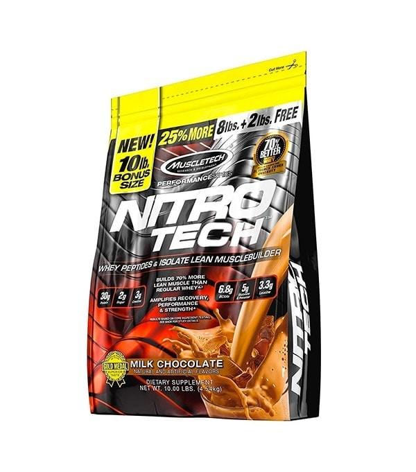 Nitro-Tech Protine 4.5 kg From MuscleTech - Nitro-Tech Protine 100 Servings