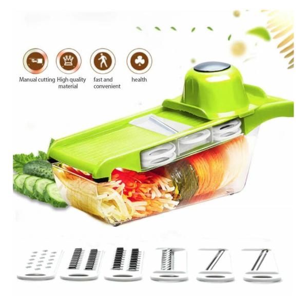 Mandoline Slicer 6*1 - Multipurpose Vegetable and Fruit Slicer