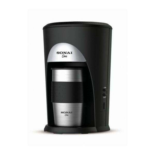 ماكينة اعداد القهوة سوناي - ماكينة قهوة 460 وات - اسود وفضي