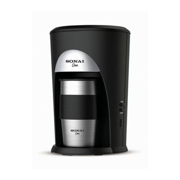 Sonai Coffee Machine - Coffee Machine 460 Watts - Black and Silver