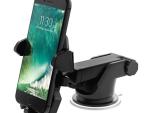 حامل هاتف للسيارة قابل للتعديل - حامل موبايل مع قاعدة للتثبيت - اسود