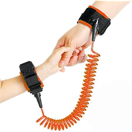 اسورة واير امان للاطفال 1.5 متر - اسورة لحماية الاطفال من الفقد والسرقة - برتقالي