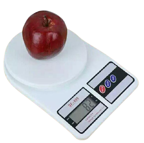 Digital Kitchen Scale - Vegetable Scale 10 Kg - White
