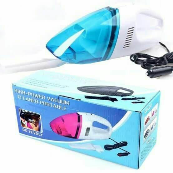 مكنسة محمولة للسيارة - مكنسة كهربائية لتنظيف السيارات - ازرق