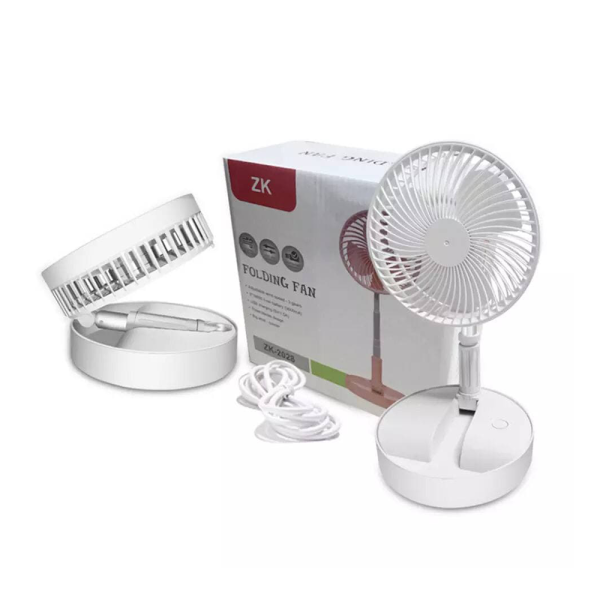 Portable Air Fan - Adjustable Fan For Travel - White