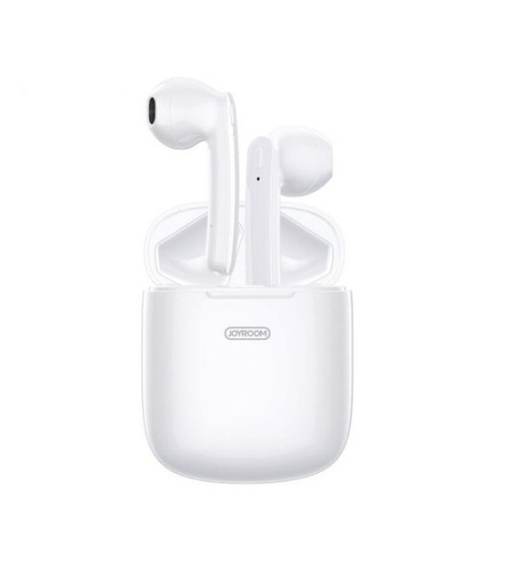 JoyRoom JR-T04S Wireless Earphones Double Bluetooth With Charging Box - White