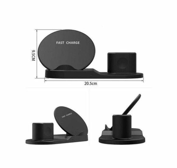 3 in 1 IPhone Wireless charger - Multi-Use Charger - Black
