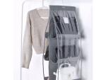 hanging storage bag 6 grids holder- gray