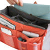 Bag Organizer 2 Zippers - Water Resistant Handbag Organizer - Orange