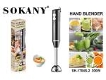 Sokany Hand Blender Stainless Steel - Hand Blender 300 Watt