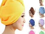 Hair Wrap Towel Hair Turban - Fast Drying Hair Towels for Women - Microfiber Hair Towel with Buttons - Multiple Colors