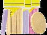 كليننج باد 12 قطعة - اسفنجة سيليكون لتنظيف الوجه - متعددة الالوان